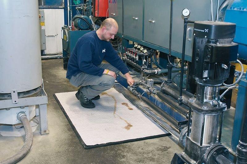 Tapis absorbant pour hydrocarbures anti-fatigue - Seton