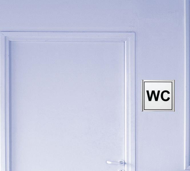 Signalétique avec profil aluminium Toilettes femme - Seton