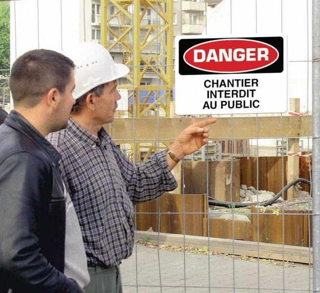 Signalisation d'avertissement Attention - Porte à maintenir fermée - Seton