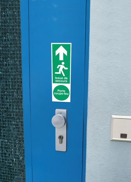 Panneau PVC adhésif vertical - Entrée interdite - Seton