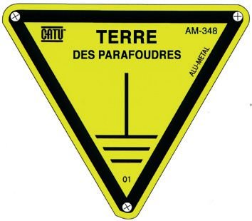 Panneau Alumetal™ Danger, mise à la terre - Terre des parafoudres