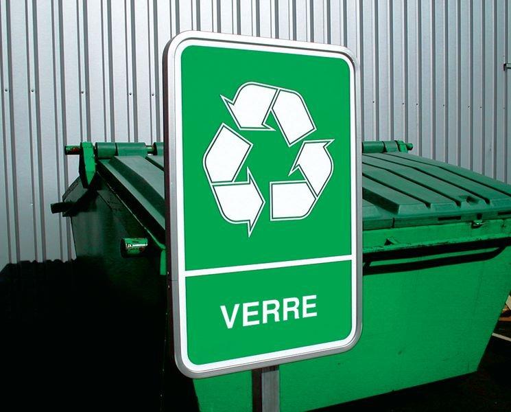 Panneau A4 en polyester laminé Tri sélectif des déchets - Verre - Seton