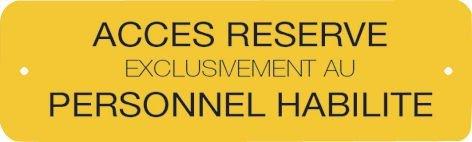 Panneau Alumetal™ - Accès réservé exclusivement au personnel habilité