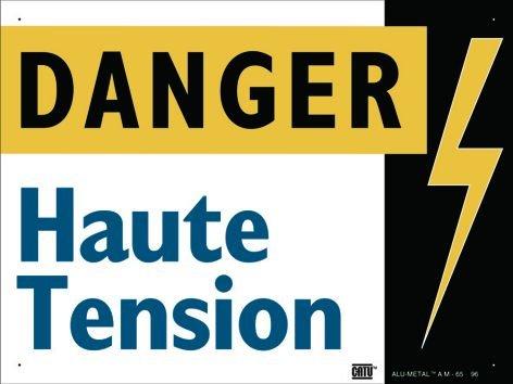 Panneau Alumetal™ Danger électricité - Danger haute tension