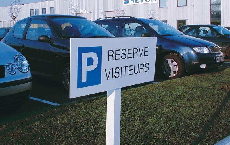 Panneau Réservé visiteurs - Seton