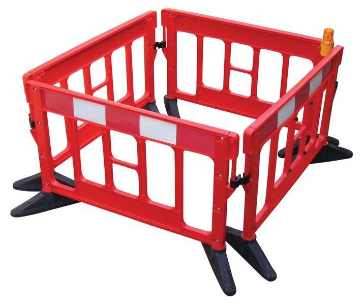 Barrière de sécurité Titan rouge et blanche sans métal - Barrières de chantier