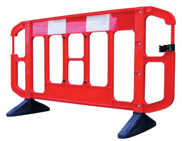 Barrière de sécurité chantier Titan rouge et blanche sans métal