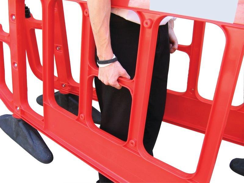 Barrière de sécurité chantier Titan rouge et blanche sans métal - Seton