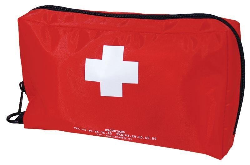 Lot de 5 trousses de secours individuelles (3+2 gratuites) - Trousses de secours souples