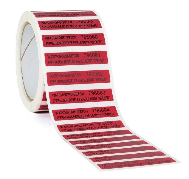 Etiquettes anti-fraude en polyester laminé infalsifiable - Seton