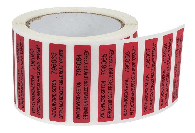 Etiquettes anti-fraude en polyester laminé infalsifiable - Plombs et scellés de sécurité
