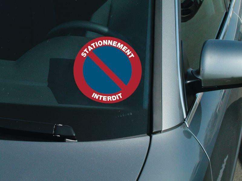 Autocollants dissuasifs Stationnement interdit - Seton