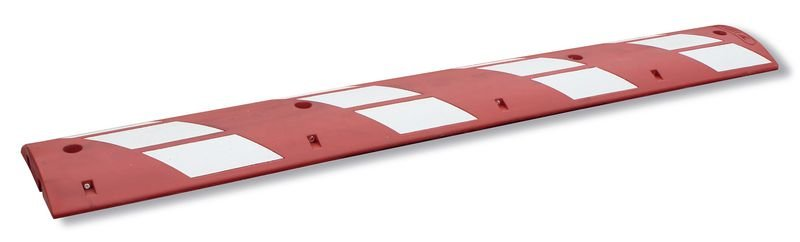 Ralentisseurs 1 pièce en caoutchouc rouge haute visibilité