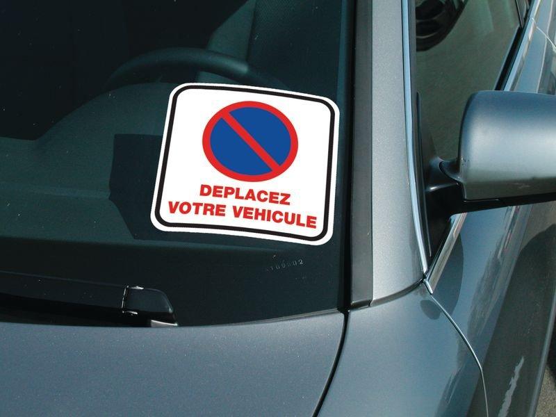 Rouleau d'étiquettes dissuasives Stationnement interdit - Déplacez votre véhicule - Seton