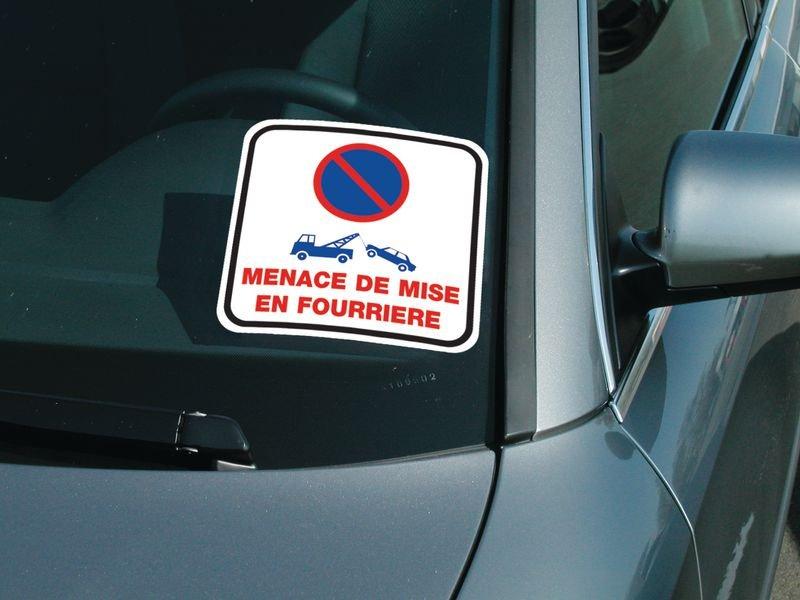 Rouleau d'étiquettes dissuasives Stationnement interdit - Mise en fourrière - Seton