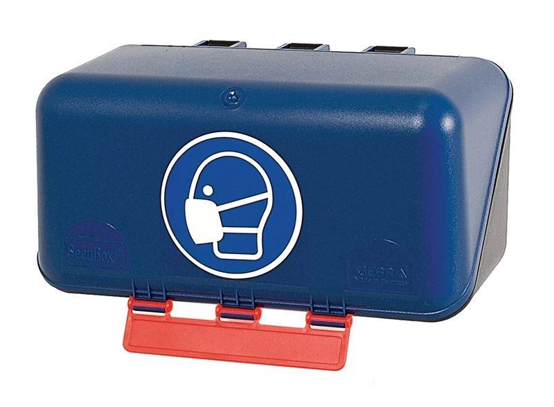 Boîtes de rangement standards pour EPI avec pictogramme Masque obligatoire