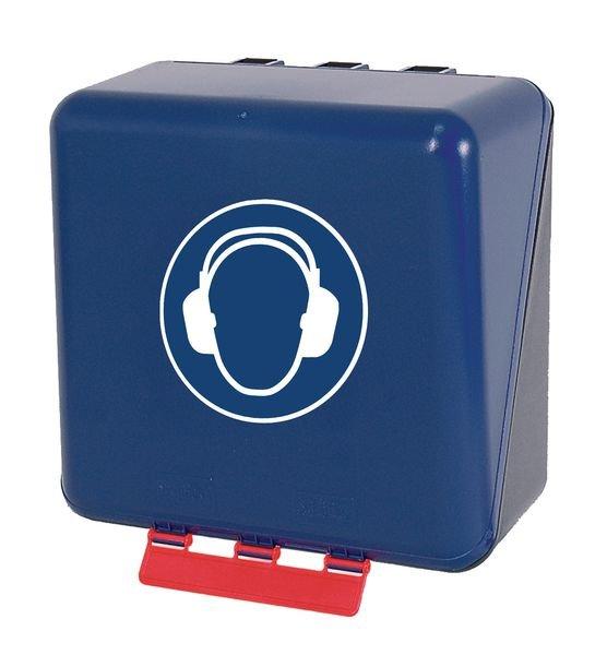 Boîtes de rangement standards pour EPI avec pictogramme Serre-tête antibruit obligatoire