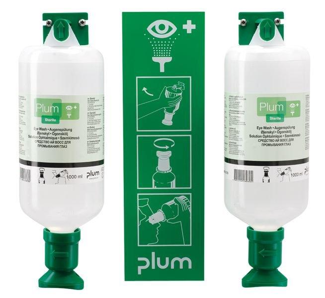 Station d'urgence oculaire Saline 2 x 1 litre
