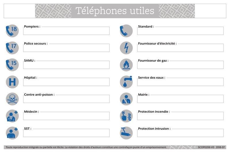 Consignes de sécurité pour les téléphones utiles