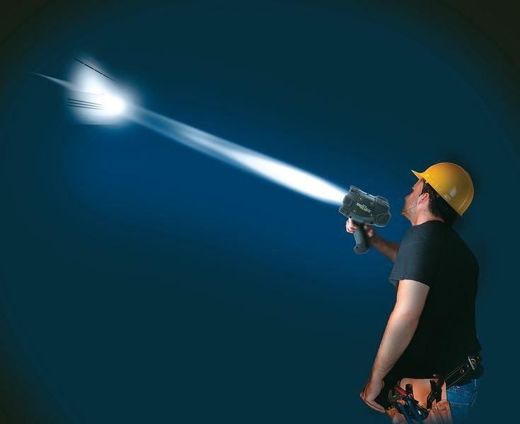 Lampe torche projecteur portable à LED incassable - Seton
