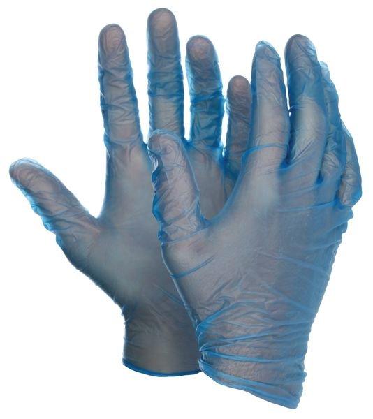 Gants en vinyle bleu Polyco® Bodyguards® 4 Blue Vinyl PF GL843