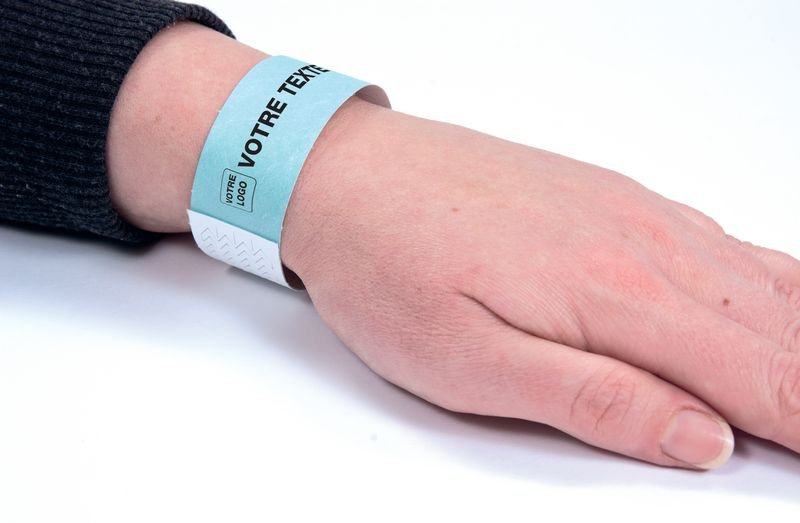 Bracelet d'identification indéchirable personnalisé - Bracelets d'identification