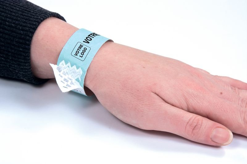 Bracelet d'identification indéchirable personnalisé - Signalétique, Tapis, Poteaux de guidage pour accueil entreprises