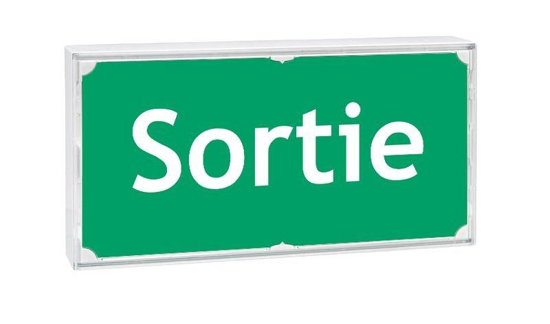 Etiquette pour blocs de secours Sortie - Seton