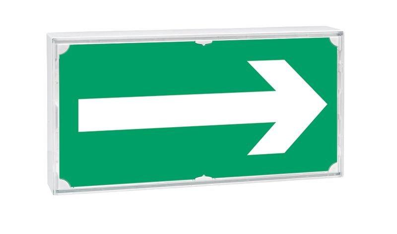 Etiquette pour blocs de secours Flèche de direction gauche ou droite - Seton