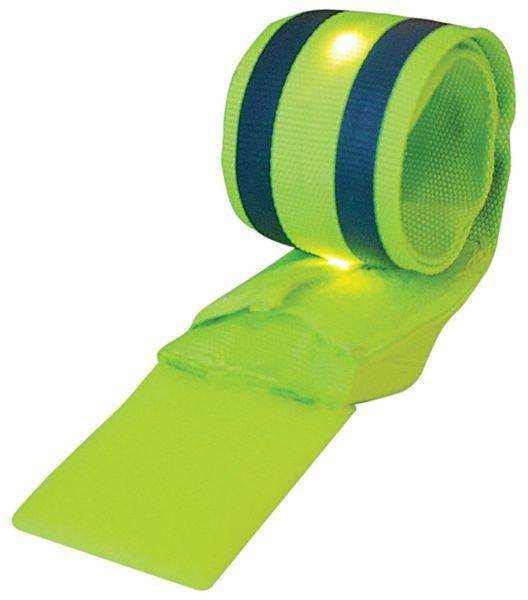 Brassard réfléchissant auto-enroulant avec 4 LEDs - Seton