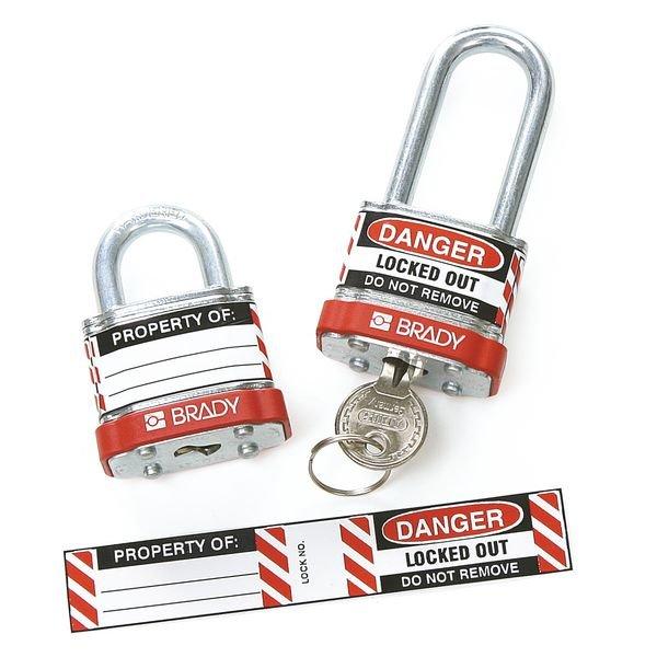 Etiquettes laminées pour cadenas de consignation - Seton