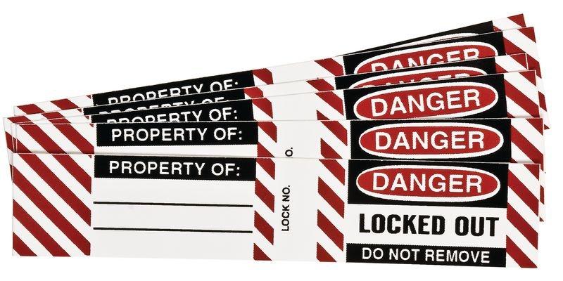 Etiquettes laminées pour cadenas de consignation - Etiquettes de consignation pour cadenas