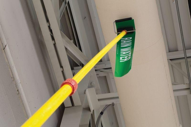 Perche télescopique pour marquage de tuyauteries - Supports et accessoires pour marqueurs de tuyauterie