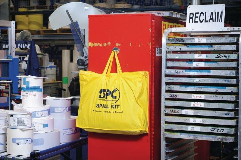 Kit absorbant produits chimiques en sac transportable - Kits antipollution absorbants