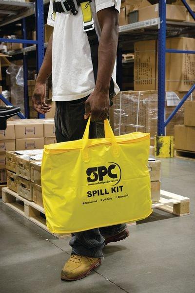 Kit absorbant pour hydrocarbures en sac transportable - Seton