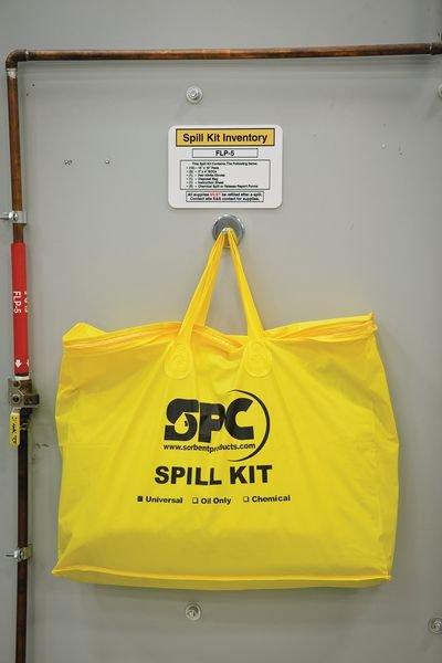 Kit absorbant pour hydrocarbures en sac transportable - Kits antipollution Huiles et Hydrocarbures