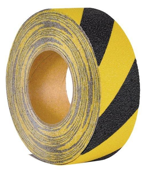 Bande antidérapante adhésive jaune et noire en rouleau Easy Clean - Puissance 1
