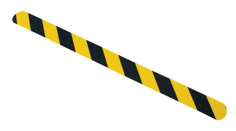 Bande antidérapante adhésive jaune et noire prédécoupée Easy Clean - Puissance 1