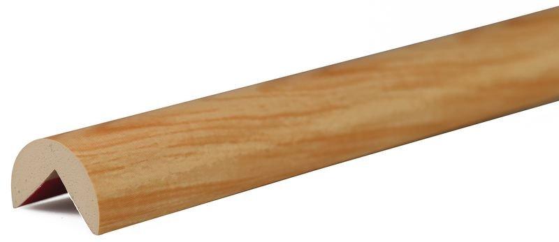 Cornière de protection en mousse Optichoc arrondie effet bois - coin de 25 mm