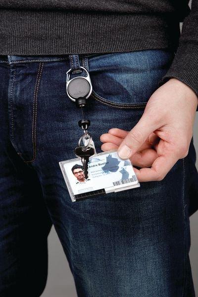 Porte-badge enrouleur aimanté - Seton