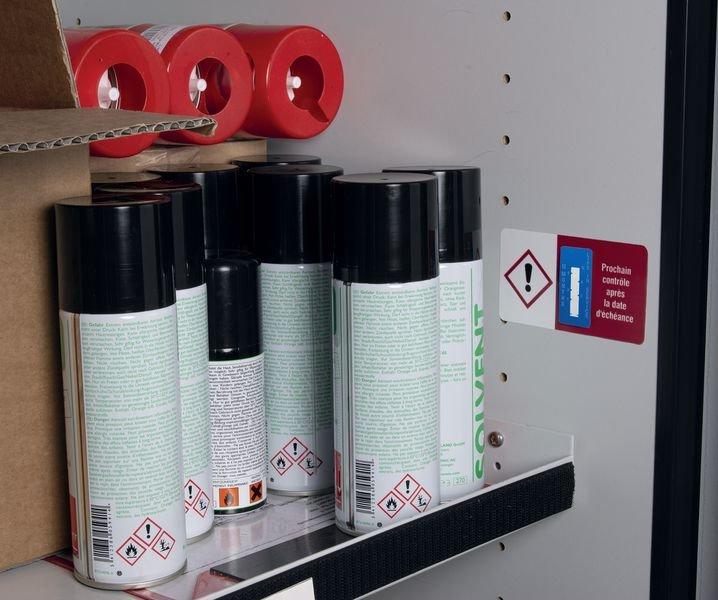 Indicateurs de temps - Étiquetage des marchandises dangereuses - Etiquettes d'inspection milieux secs