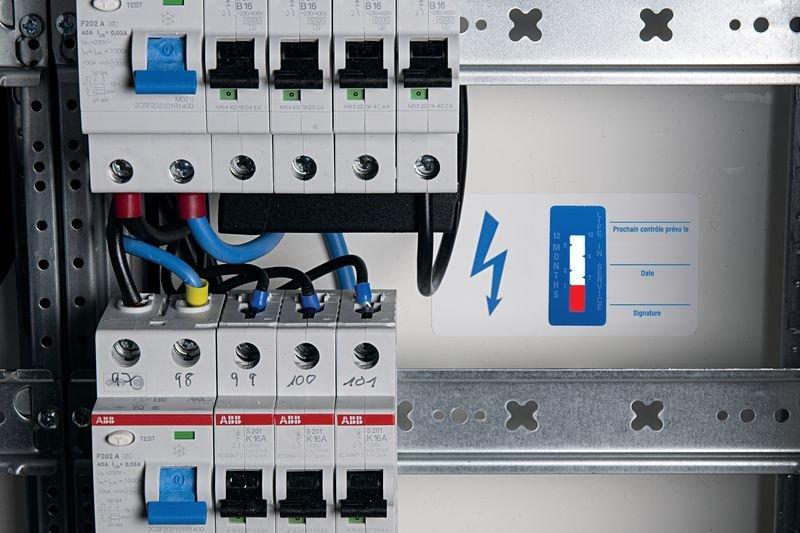 Indicateurs de temps - Appareils électriques - Etiquettes d'inspection milieux secs