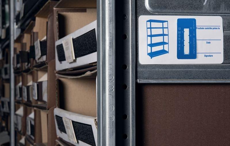 Indicateurs de temps - Étagères - Etiquettes d'inspection milieux secs