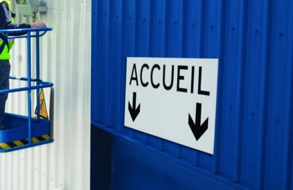Panneau en aluminium personnalisable - Panneaux d'accueil de site et d'information