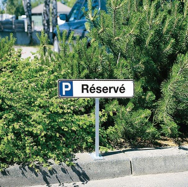 Panneau places de parking - Réservé - Seton