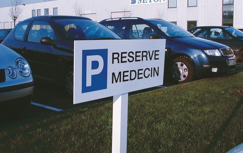 Panneau Réservé médecin - Seton