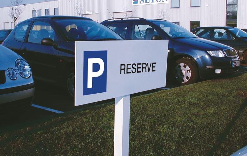 Panneau parking Réservé - Seton