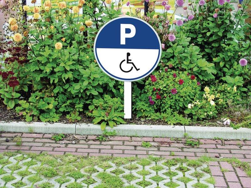Panneau rond Parking Handicapés - Seton