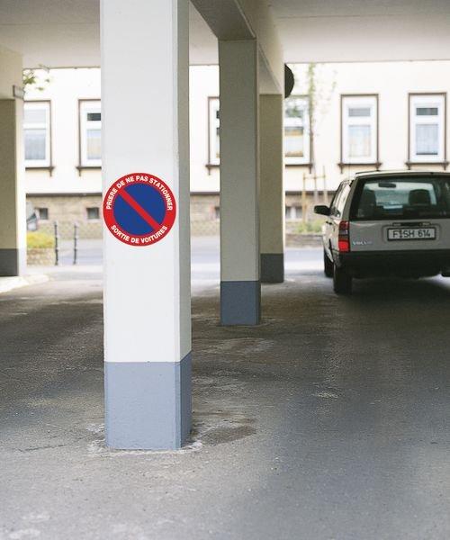 Panneau Prière de ne pas stationner - Sortie de véhicules - Seton