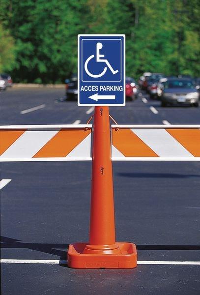Panneau Accès parking Handicapés à gauche - Panneaux place handicapé